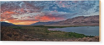 Eastern Sierra Sunset Wood Print by Cat Connor