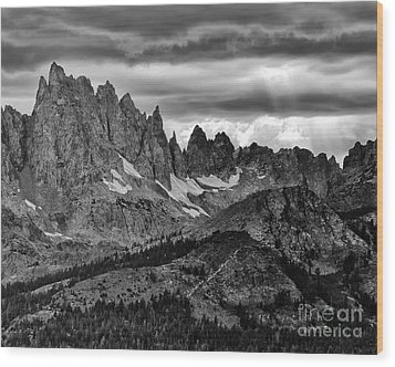 Wood Print featuring the photograph Eastern Sierras Summer Storm 2 by Terry Garvin