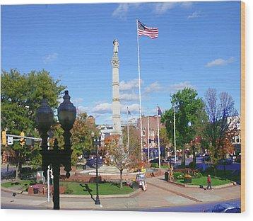 Easton Pa - Civil War Monument Wood Print