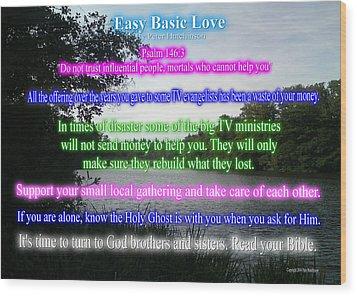 Easy Basic Love Wood Print