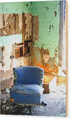 Easy Chair Wood Print