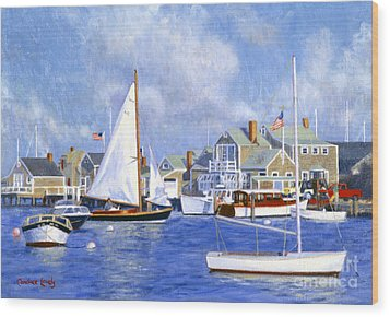 Easy Street Basin Blues Wood Print by Candace Lovely