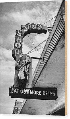Wood Print featuring the photograph Eat Out by Trever Miller