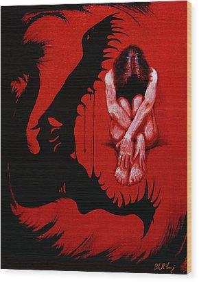 Eater Wood Print by Dale Loos Jr