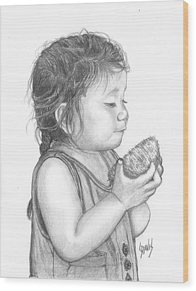 Eating Coconut Wood Print