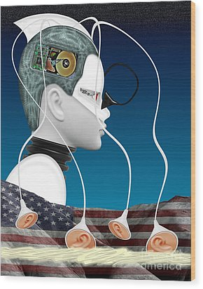 Eavesdropper Wood Print by Keith Dillon
