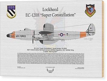 Ec-121h Super Constellation Wood Print by Arthur Eggers