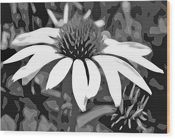 Wood Print featuring the photograph Echinacea - Digital Art by Ellen Tully