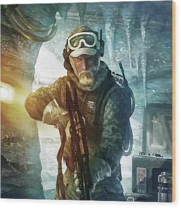 Echo Base Trooper Wood Print by Ryan Barger