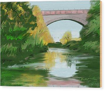 Echo Bridge Wood Print by Jean Pacheco Ravinski
