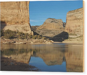 Echo Park In Dinosaur National Monument Wood Print by Nadja Rider