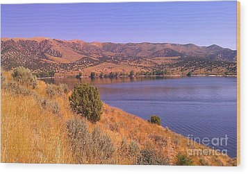 Echo Reservoir Utah Wood Print by Chris Tarpening