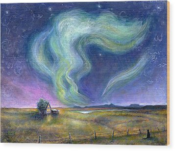 Echoes In The Sky Wood Print by Retta Stephenson