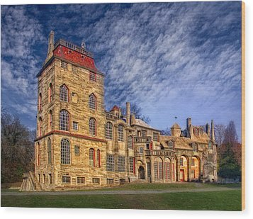 Eclectic Castle Wood Print by Susan Candelario