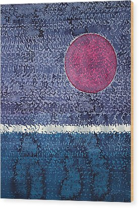 Eclipse Original Painting Wood Print by Sol Luckman