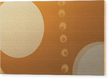 Eclipse With Olive Alignment Wood Print by Naomi Jacobs