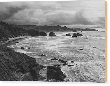 Wood Print featuring the photograph Ecola State Park by Photography  By Sai