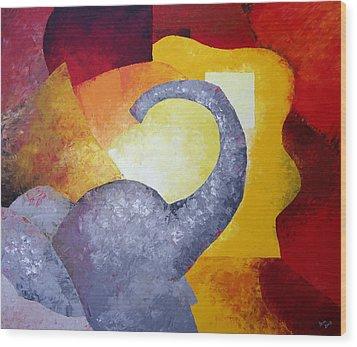 Ecstasy Wood Print by Draia Coralia
