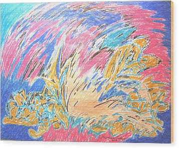 Wood Print featuring the painting Ecstasy by Esther Newman-Cohen