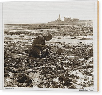 Ed Ricketts At Point Wilson Lighthouse In Port Townsend Wa 1930 Wood Print