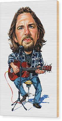 Eddie Vedder Wood Print by Art