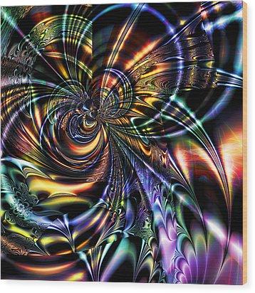 Eddies Wood Print