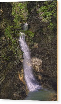 Eden Falls Lost Valley Buffalo National River Wood Print by Michael Dougherty