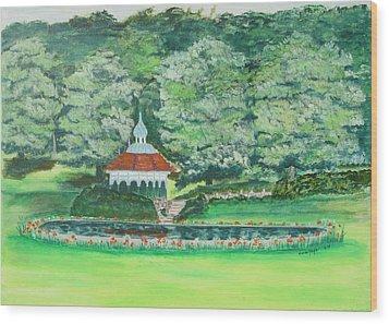 Eden Park  Cincinnati Ohio Wood Print by Diane Pape