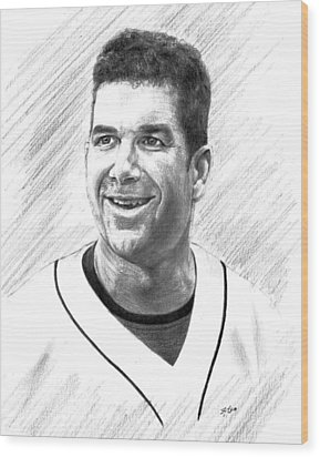Edgar Martinez - Seattle Mariners Wood Print by Lou Ortiz