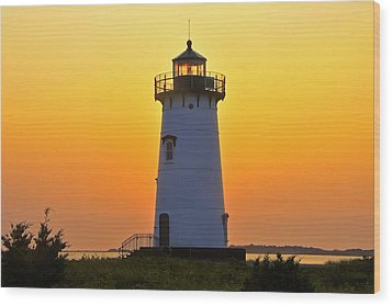 Wood Print featuring the photograph Edgartown Light by Dan Myers