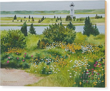 Edgartown Light Wood Print