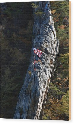 Wood Print featuring the digital art Edge Of The Ledge by Kelvin Booker