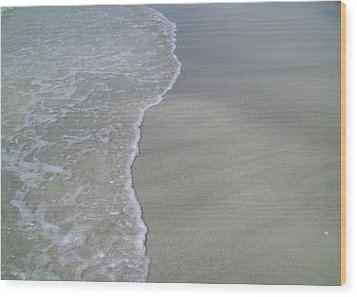 Wood Print featuring the photograph Edge Of The Ocean by Ginny Schmidt