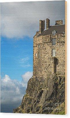 Edinburgh Castle Detail Wood Print by Jane Rix