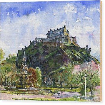 Edinburgh Castle Scotland Wood Print