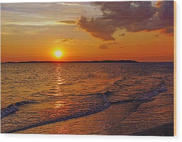 Edisto Island Sc Sunset Wood Print