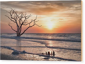 Edisto Sunrise Wood Print by Curtis Cabana