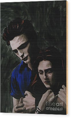 Edward And Bella Wood Print by Betta Artusi