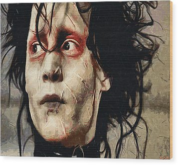 Edward Scissorhands  Wood Print