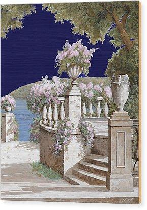 La Balaustra Di Notte Wood Print by Guido Borelli