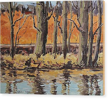 Eel River Tow Path Wood Print by Charlie Spear