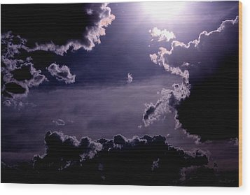 Wood Print featuring the photograph Eerie Afternoon Sky by Amanda Holmes Tzafrir