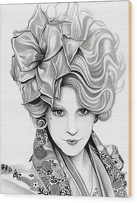 Effie Trinket - The Hunger Games Wood Print by Fred Larucci