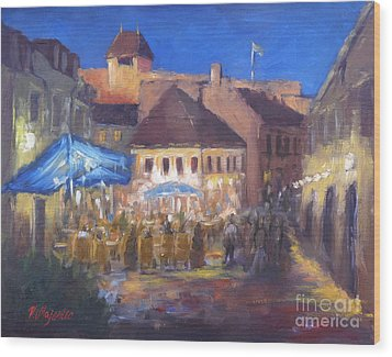 Eger At Night Wood Print