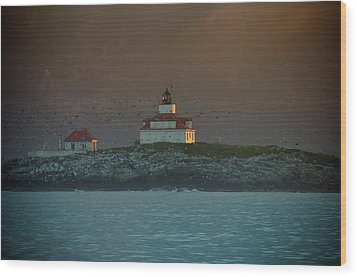 Egg Rock Island Lighthouse Wood Print by Sebastian Musial