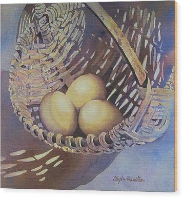 Eggs In A Basket II Wood Print