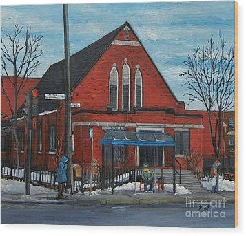 Eglise Baptiste Evangelique De La Grace De Verdun  Wood Print by Reb Frost