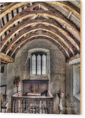 Eglwys Celynnin Sant Wood Print by Adrian Evans