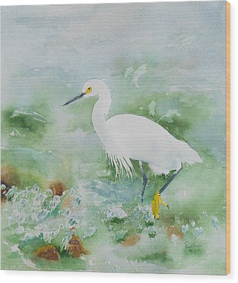 Egret 2 Wood Print by Christine Lathrop