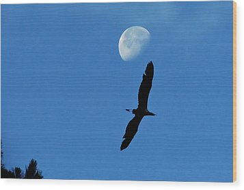 Wood Print featuring the photograph Egret Flight by Charlotte Schafer
